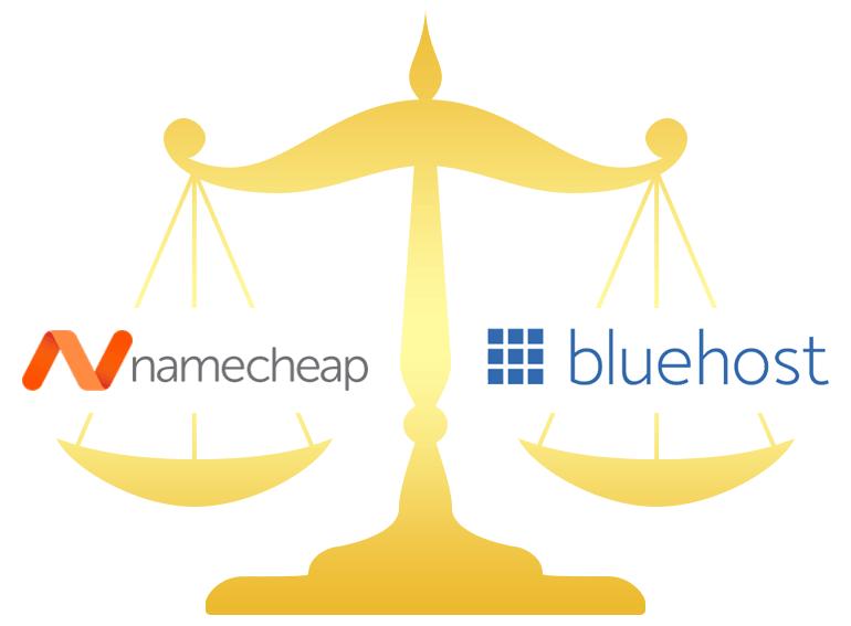 Namecheap vs Bluehost Comparison