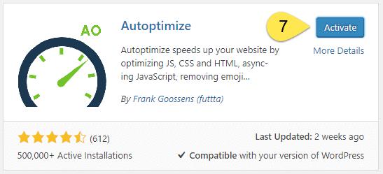 Activate Autoptimize - Screenshot 6