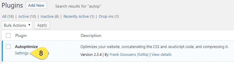 Autoptimize Settings - Screenshot 7